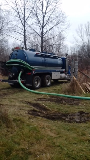 broughton's pumping service job site